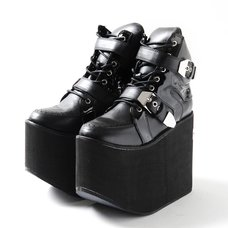 YOSUKE 2015SS Ultra Thick Soled Double Belt Boots