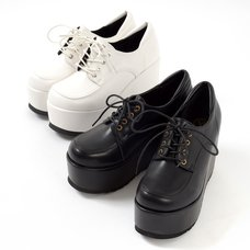 YOSUKE USA Platform Lace-Up Shoes