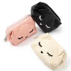 Pooh-chan Wide Zippered Pouch