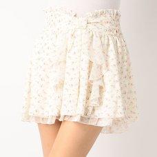 LIZ LISA Flower Chiffon Sukapan Skirt