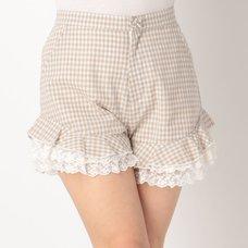 LIZ LISA Gingham Checkered Sukapan Skirt