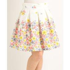 LIZ LISA Lace & Flower Skirt
