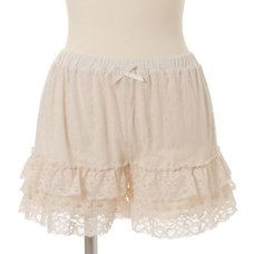 LIZ LISA Dot Tulle Frilly Inner Shorts