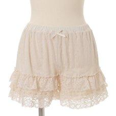 LIZ LISA Dot Tulle Frilly Inner Shorts