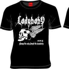 LADYBABY Angel Wings Black T-Shirt