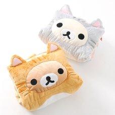 Nonbiri Neko Rilakkuma Fluffy 2-Way Cushions