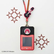 OJAGADESIGN Super Sonico Pass Case (Pink x Black)