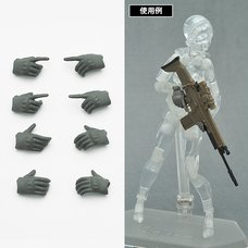 Little Armory-OP5: figma Tactical Gloves (Mas Grey)