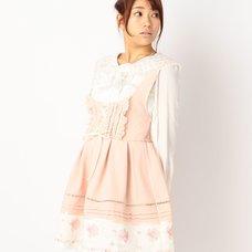LIZ LISA Sheer Gingham Pinafore Dress