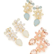 LIZ LISA Flower Bijou Clip-on Earrings