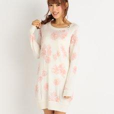 LIZ LISA Rose Angora Blend Sweater Dress