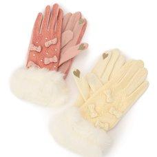 LIZ LISA Lace & Mini Ribbon Gloves