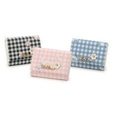 LIZ LISA Gingham Flower Card Case