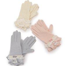 LIZ LISA Pearl & Ribbon Gloves