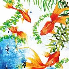 """Sakura Exhibition: SARAYA """"Underwater Flowers"""" Poster"""