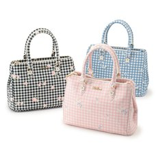 LIZ LISA Gingham Flower Tote Bag