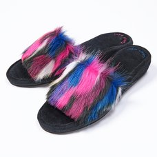 YUMMY MART Fake Fur Slippers