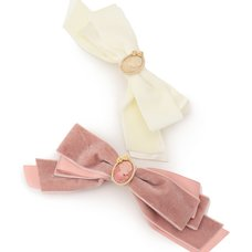 LIZ LISA Cameo & Velour Ribbon Barrette