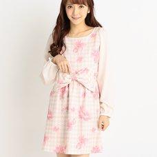 LIZ LISA Floral Plaid Houndstooth Dress