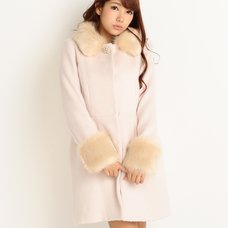 LIZ LISA Faux Fur Collar & Cuffs Cocoon Coat