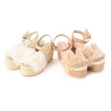 LIZ LISA Cat Fur Sandals