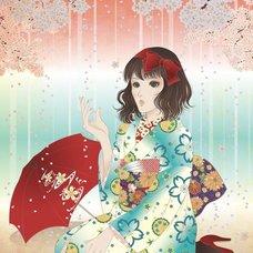 """Sakura Exhibition: nanyoSETO """"Sakura Rain"""" Poster"""
