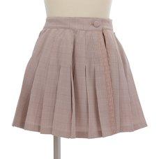 LIZ LISA Checkered Pleated Sukapan Skirt