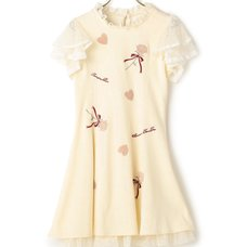 LIZ LISA Velour Appliqué Dress