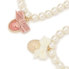 LIZ LISA Cameo Pearl Necklace