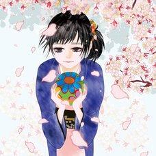 """Sakura Exhibition: Miwako OE """"Kokoro-Hitotsu"""" Poster"""