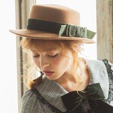LIZ LISA Classic Felt Boater Hat