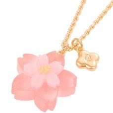 Q-pot. Sakura Yokan Necklace