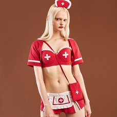 YUMMY MART Bolero Nurse Strapless Lingerie Set