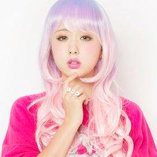 LLL Princess Wave Long Pink Sky Wig