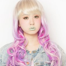 LLL Princess Wave Long Vanilla&Raspberry Wig