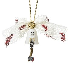 Q-pot. Petit Ghost Sheets Necklace / White Veil Charm / Q Hatchet Charm Set