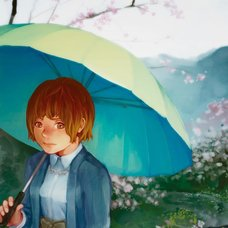 "Sakura Exhibition: kumaki ""Fall in the Rain"" Poster"