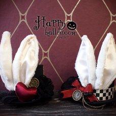 NO.S PROJECT White Rabbit Petit Silk Hat