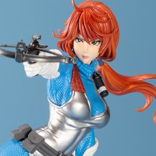 G.I. Joe Bishoujo Statue Scarlett: Sky-Blue Color Limited Edition