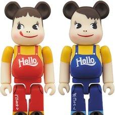 BE@RBRICK Peko-chan & Poko-chan: Vintage Hello Ver. 100% 2-Pack