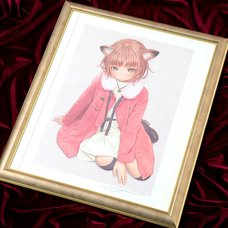 "Range Murata ""Nekomimi Girl"" Lithograph"