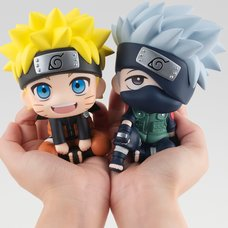 Look Up Series Naruto Shippuden Naruto Uzumaki & Kakashi Hatake Set w/ Bonus Cushion