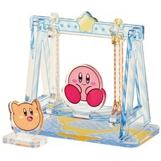 Kirby and Scarfy Swing Moving Acrylic Diorama Stand