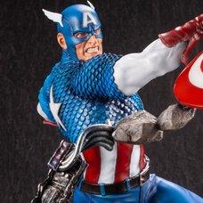 Marvel Avengers Captain America Fine Art Statue