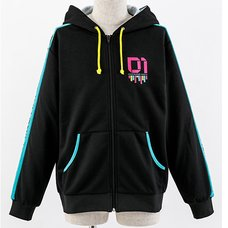 Vocaloid Hatsune Miku Zip-Up Hoodie (Men's Free)