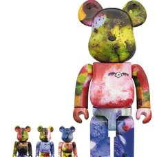 BE@RBRICK Pushead 3 Different Colors 100% & 400% 4-Pack Set