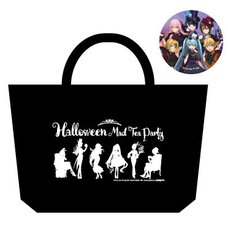 Hatsune Miku Halloween Mad Tea Party Lunch Tote Bag w/ Pin Badge