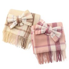 LIZ LISA Plaid Ribbon Scarf