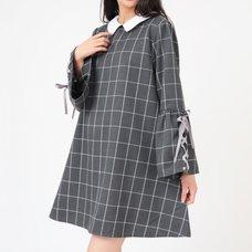 LIZ LISA Collared Checkered Dress