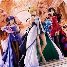 Fate/stay night Saber & Rin Tohsaka & Sakura Matou: 15th Celebration Dress Ver. 1/7 Scale Figure Premium Box Set
